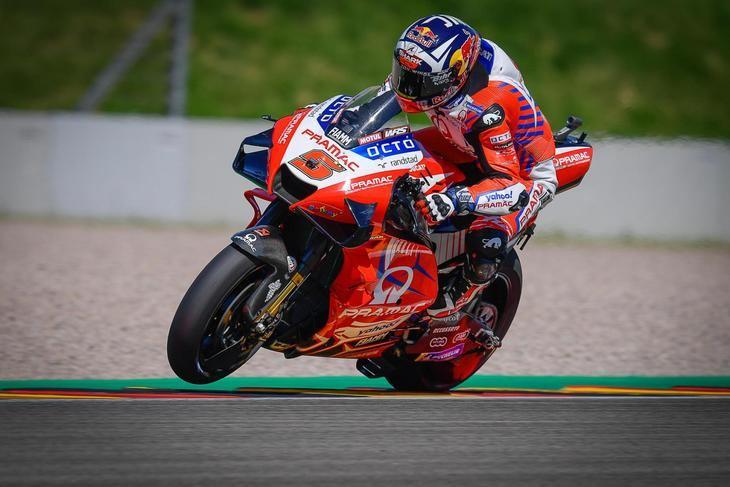 'Pole' y caída de Zarco en el Gran Premio de Alemania