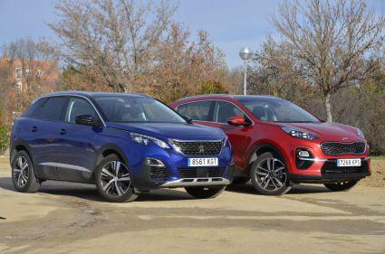 Comparamos el Peugeot 3008 frente Kia Sportage 2019