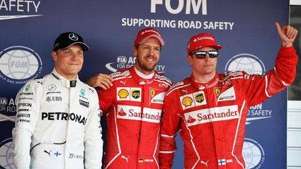 Doblete de Ferrari contra pronóstico