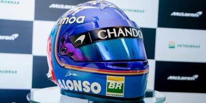 El casco de Alonso para 2018