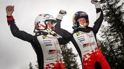 Rallye de Suecia: Elfyn Evans (Toyota) de principio a fin