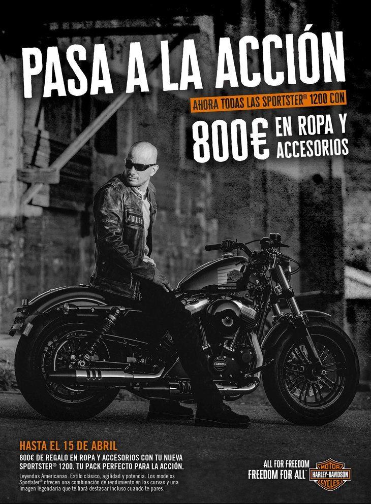 Atractiva promoción para la familia Sportster 1200 de Harley-Davidson