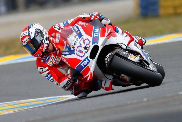 Dovizioso lleva a su Ducati a lo más alto de podio
