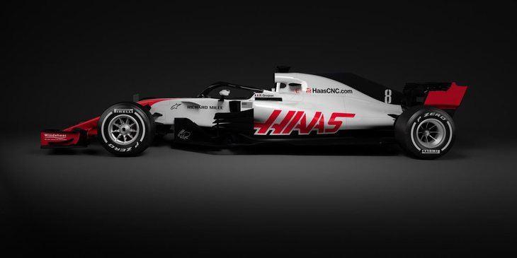 Haas es el primero en presentar su coche