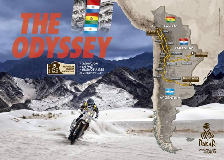 El Dakar 2017 y sus etapas