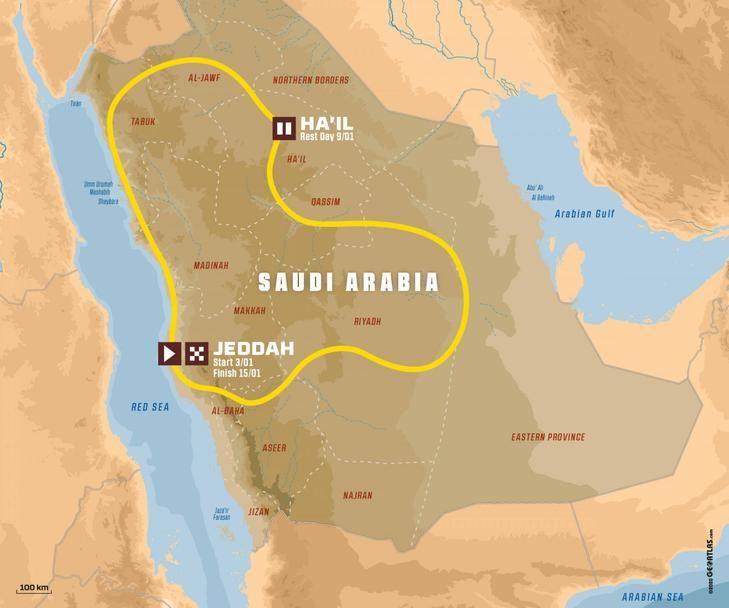 Dakar 2021: se celebrará del 3 al 15 de enero en Arabia Saudí