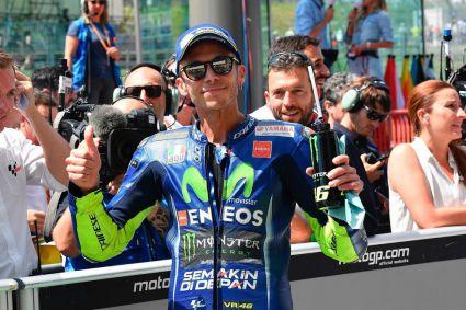 Extraordinaria victoria de Valentino Rossi