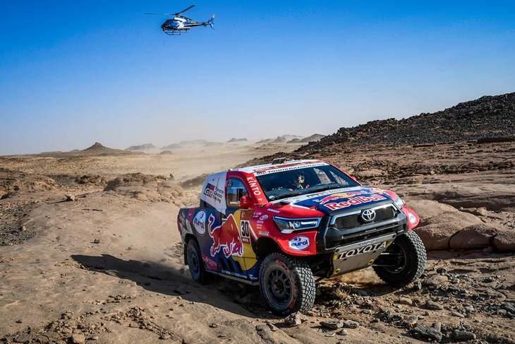Sainz y Barreda se pierden en el desierto y caen en la clasificación