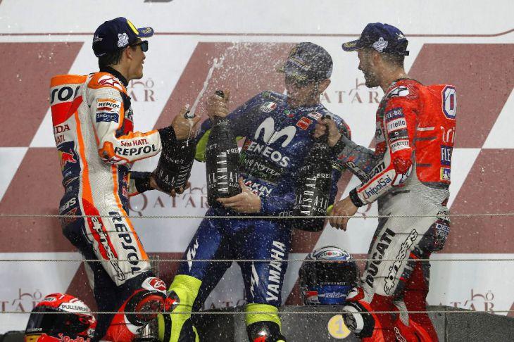 Gráfico de la carrera de MotoGP: los numeros cantan