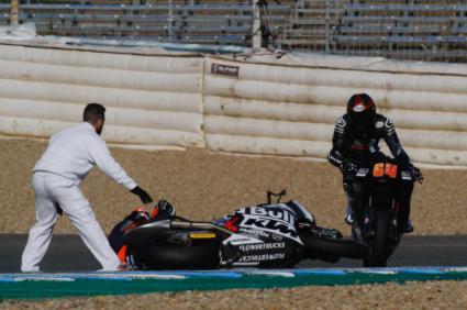 Accidente con fractura de brazo de Jorge Martín