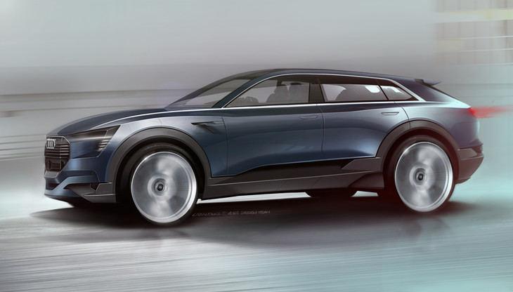 El Audi quattro e-tron concept listo para la producción en 2018.