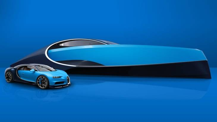 El Bugatti Chiron inspira un Superyate