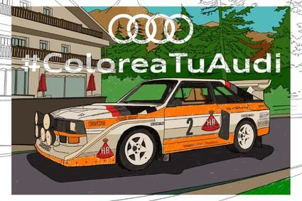 El Audi quattro S1, el Audi TT y el Audi Q3 Sportback para que los coloreen los más pequeños