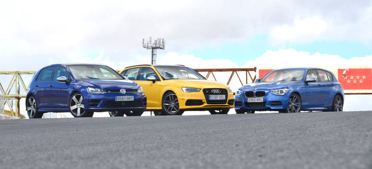 Volkswagen Golf R vs Audi S3 Quattro vs BMW M135i