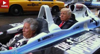 Trump es llevado por Andretti hasta la Casablanca