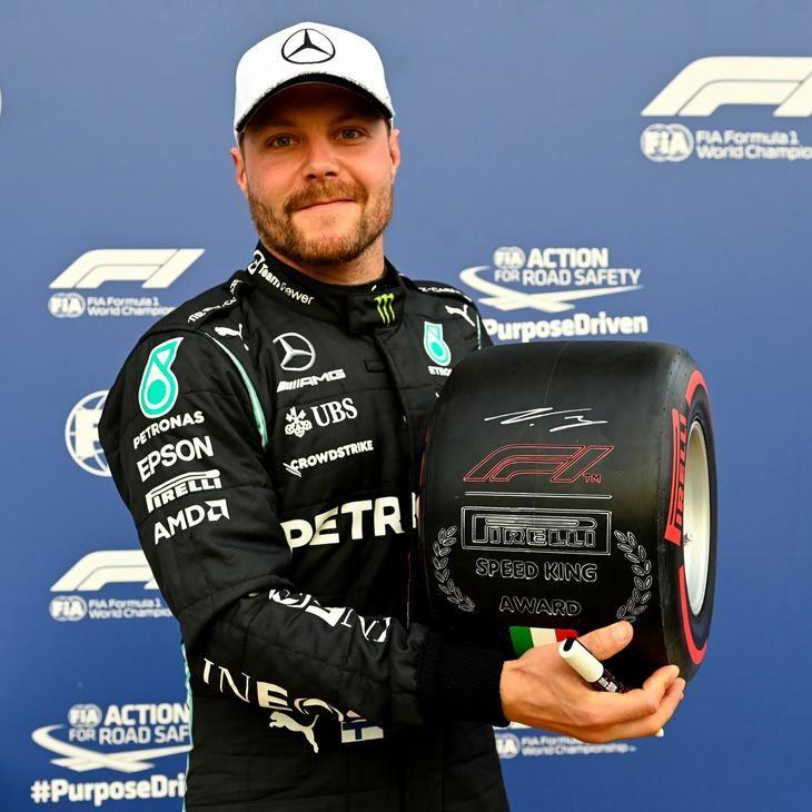 Bottas por delante de Hamilton en la clasificación de Monza