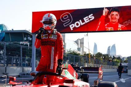 Leclerc se lleva la pole del gran premio de Azerbaiyán
