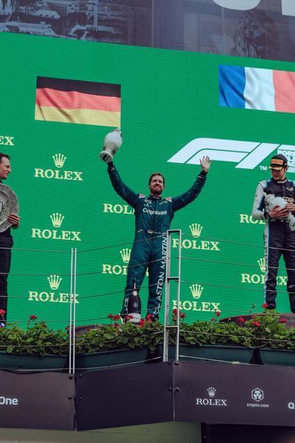 Vettel pierde el segundo puesto cosechado en Hungría