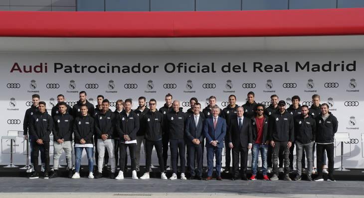 Les entregan los nuevos Audi a la primera plantilla de jugadores del Real Madrid CF