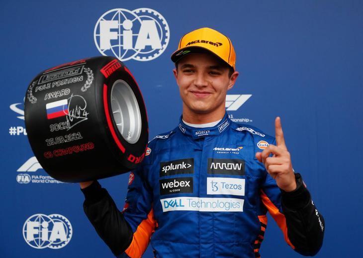 Norris consigue la Pole de GP de Rusia por delante de Sainz y Russell.