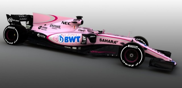 Force India el coche de la Pantera Rosa