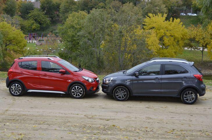 Ford KA+ Frente al Opel Karl