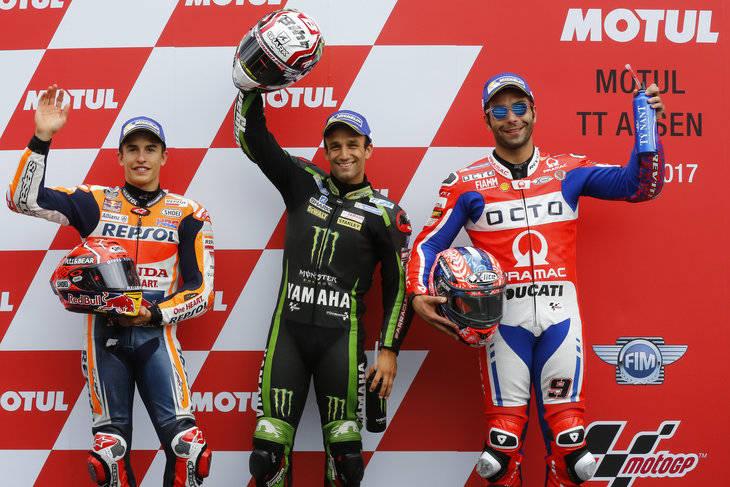 Zarco, Márquez y Petrucci salen desde la primera fila de MotoGP