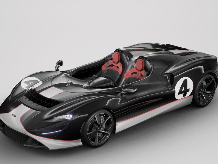 McLaren Elva formado por el viento