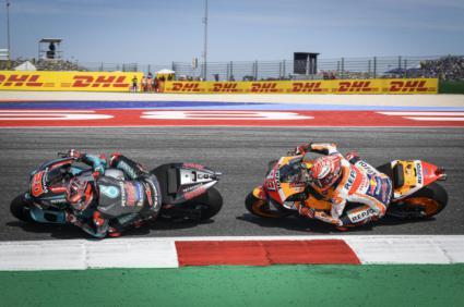 Márquez y Quartararo en el Gran Premio de Aragón