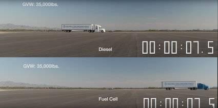 Camión de Toyota: Diésel vs hidrógeno