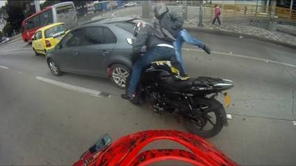 Espectaculares accidentes de moto