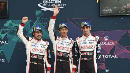 Alonso vencedor con Buemi y Nakajima