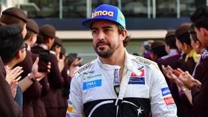 Fernando Alonso, muy feliz con su carrera