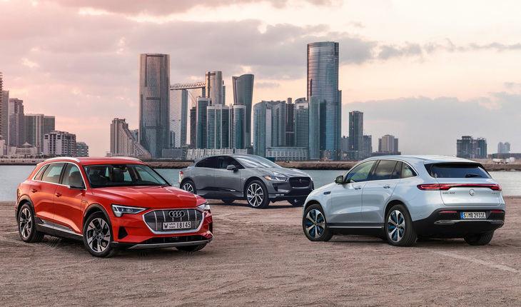 Comparativa Mercedes EQC, Audi e-tron y Jaguar i-Pace