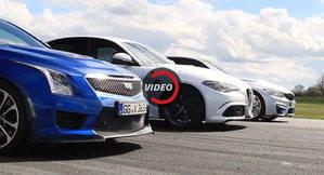 Alfa Romeo Giulia QV, BMW M3 y Cadillac ATS-V compiten desde parado