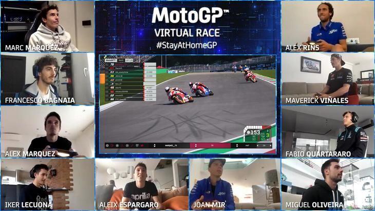 Alex Marquez gana la primera carrera virtual de MotoGP