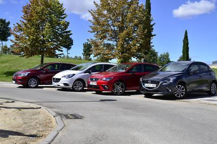 Comparamos los utilitarios del momento: Mazda 2, Seat Ibiza, Opel Corsa, Volkswagen Polo, Ford Fiesta y Renault Clio