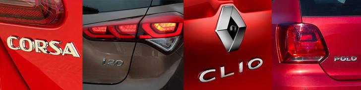Enfrentados:Renault Clio, Opel Corsa, VW Polo y Hyundai i20