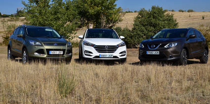 Hyundai Tucson vs Nissan Qashqai vs Ford Kuga vs Kia Sportage