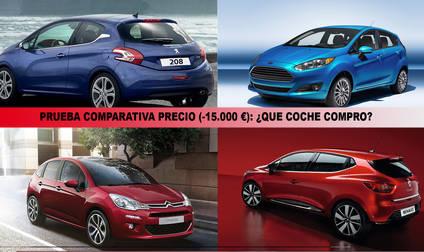 Peugeot 208, Ford Fiesta, Citroen C3 y Renault Clio