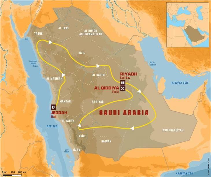Dakar 2020 en Arabia Saudi
