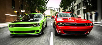 Impresionantes los Dodge Charger y Challenger Hellcat