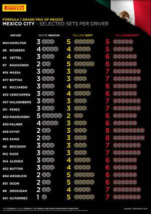 Neum�ticos elegidos por los pilotos