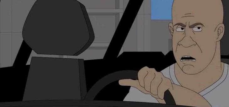 Fast and Furious 7: en dibujos animados