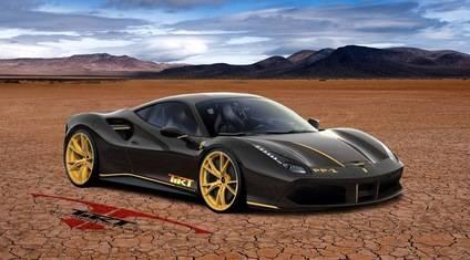 Un Ferrari 488 que colea