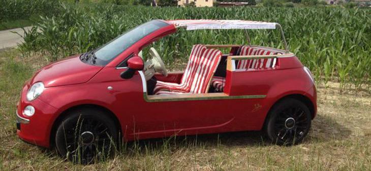 El Fiat 500 más playero