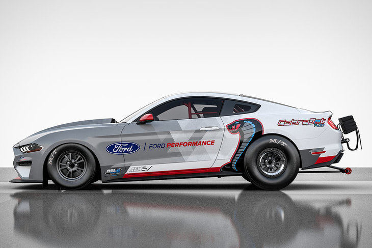 Ford Mustang Cobra Jet 1400, un dragster eléctrico