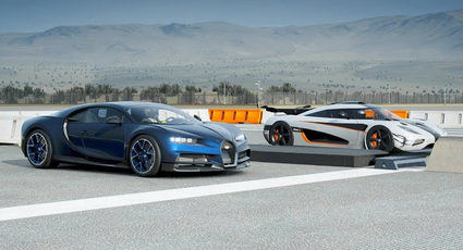 El Bugatti Chiron ha perdido su primera drag race virtual con el Koenigsegg One:1