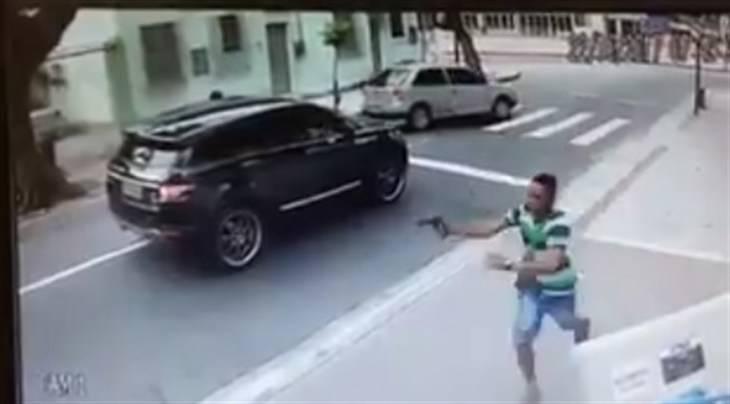 Así le robaron el Range Rover a un futbolista en Brasil