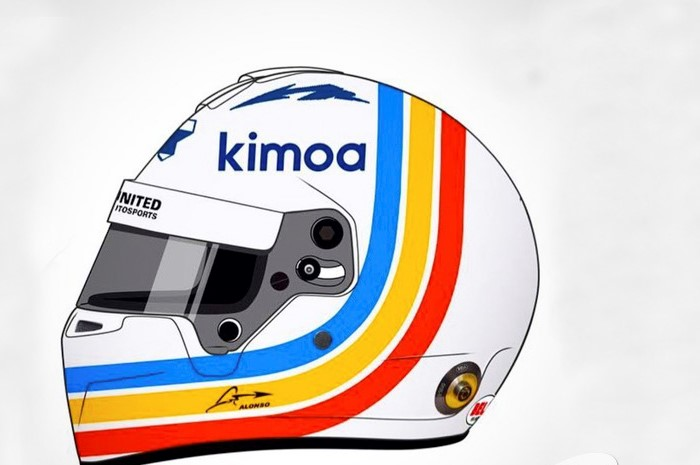 El casco de Fernando Alonso en Daytona